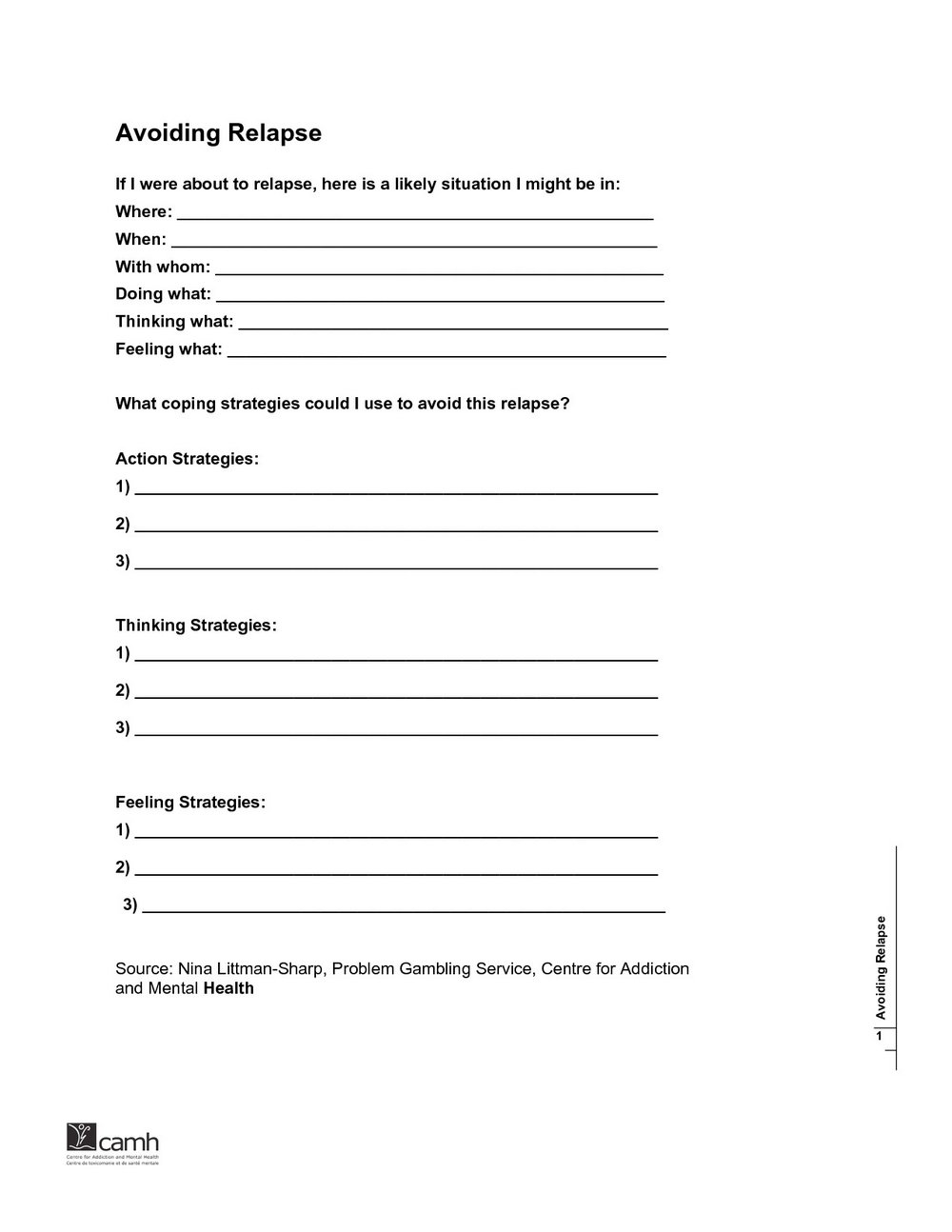 Stress Management And Addiction Recovery Worksheets