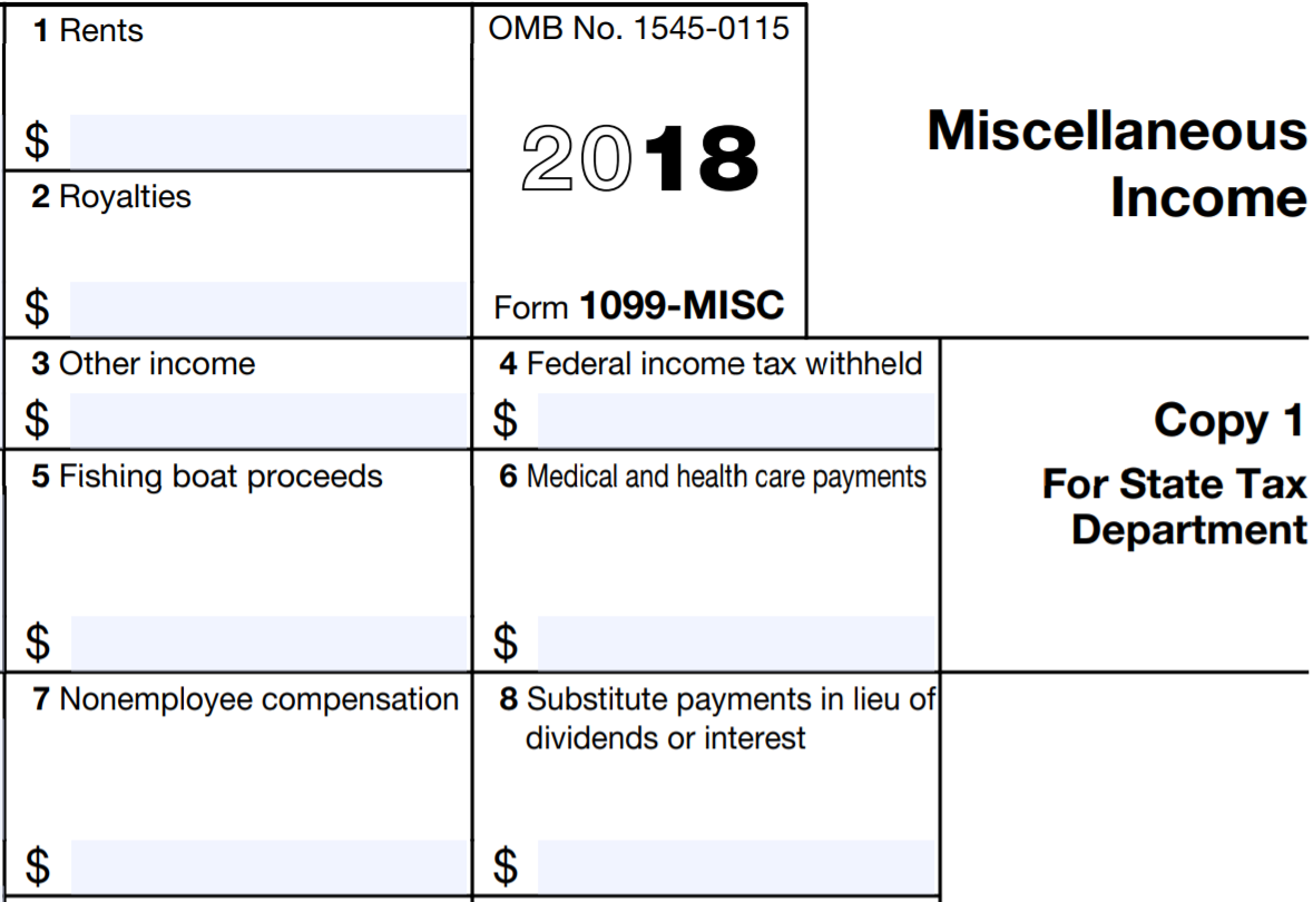 Printable 1099 Form For Employees