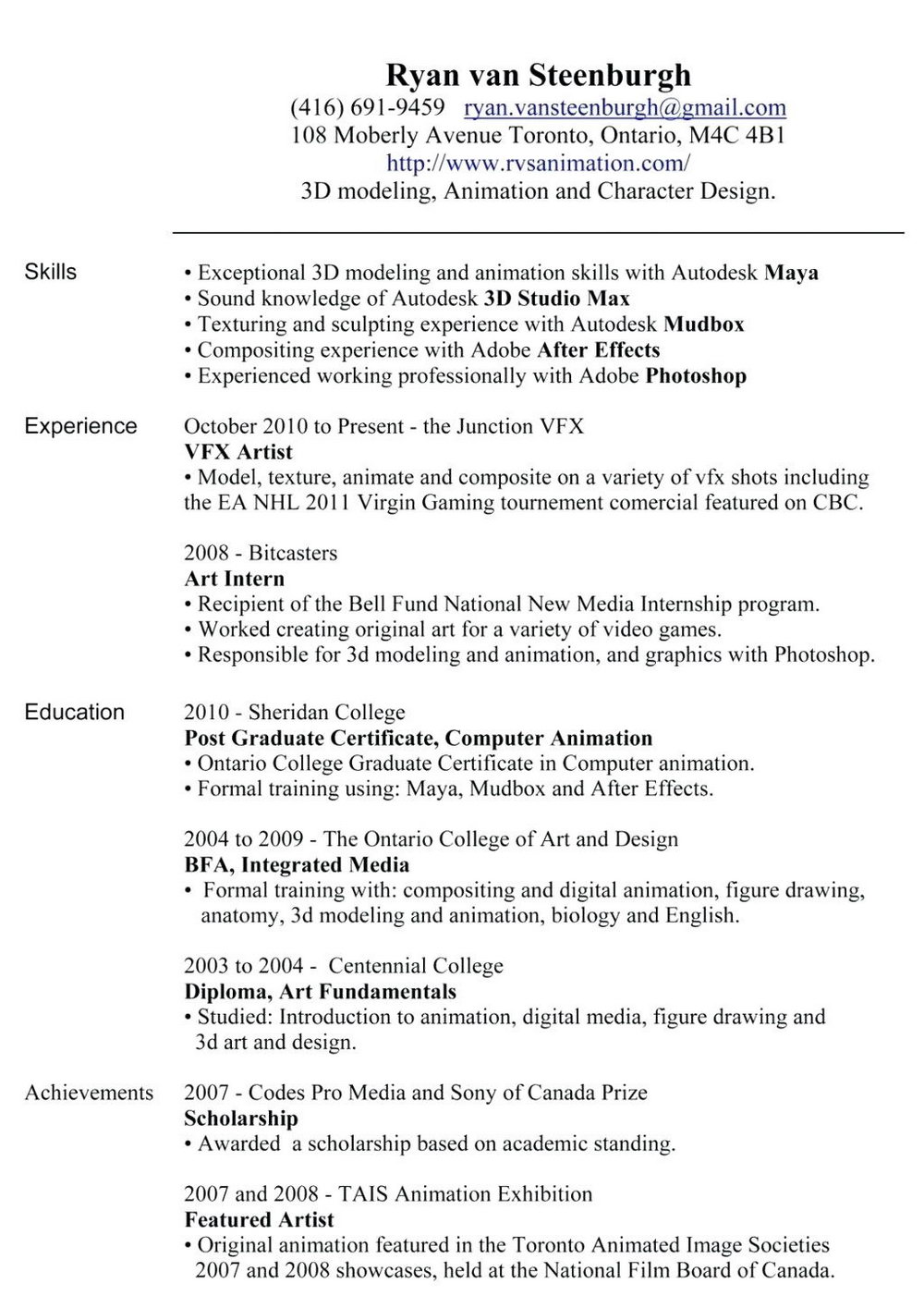 Sample Resume Format For Experienced Free Download