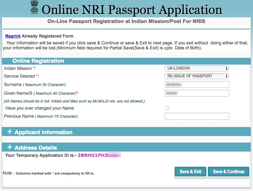 Www.indian Passport Application Form
